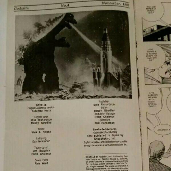 Godzilla #4 1988 Dark Horse Comics Limited Series