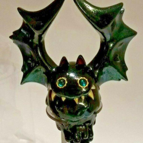 INSTINCTOY Bat Liquid Sofubi in Darkness Green