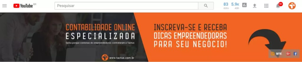 Canal do YouTube Tactus