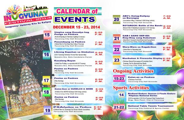 Inugyunay Festival 2014 Calendar of Activities