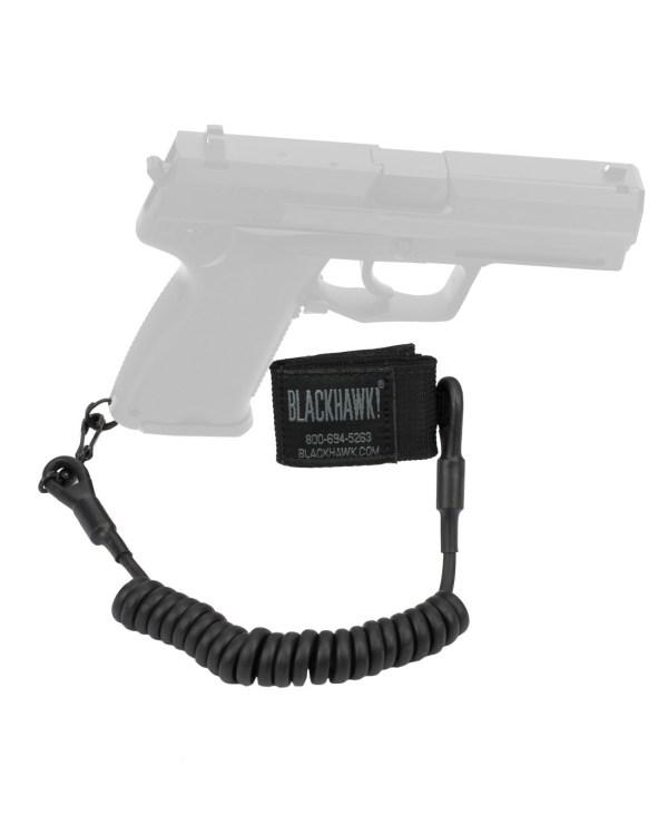 Blackhawk Tactical Pistol Lanyard Single-swivel Black - 4590tpl2bk Tacwrk
