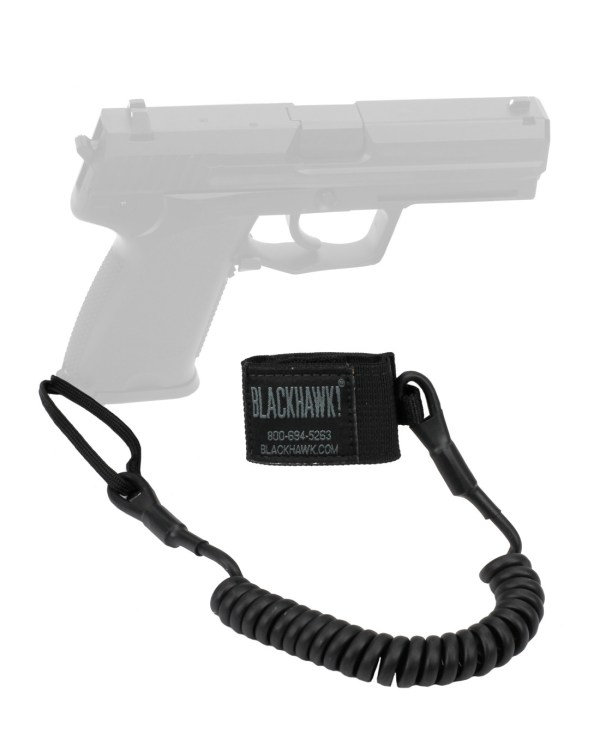 Blackhawk Tactical Pistol Lanyard Coil Black - 4590tpl1bk Tacwrk