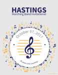 Hastings Marching Band Competition Cover 2017