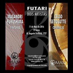 """Exposição """"Futari - Dois Artistas"""" reúne pinturas e cerâmicas no MAM"""