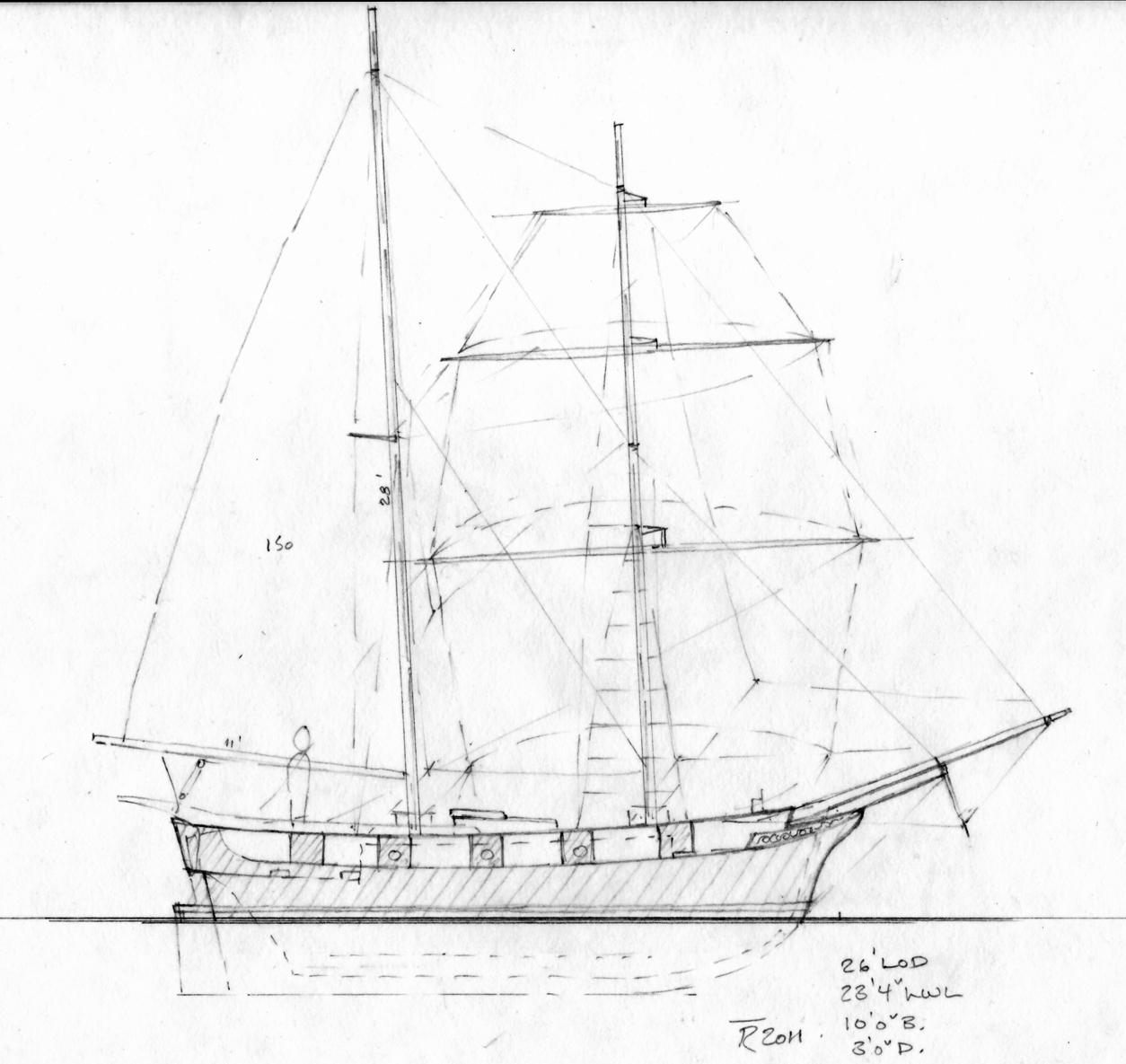 Sabot Brigantine Plans