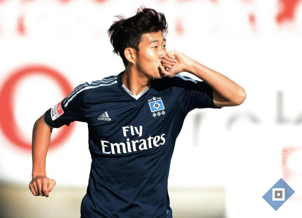 Son Heung-Min celebrates goal vs Grunther Furth. Photo/HSV Facebook
