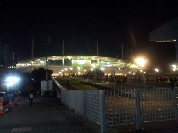 Approaching the World Cup Stadium from the south