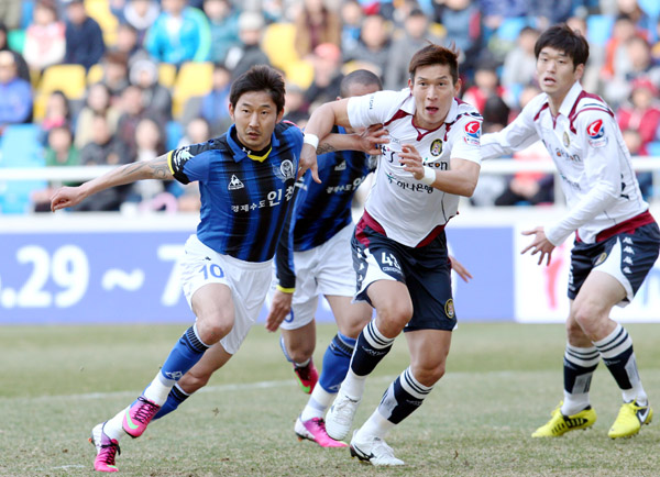 Lee Chun-Soo returns to Korea with Incheon United. Photo courtesy of the Joongang Ilbo.