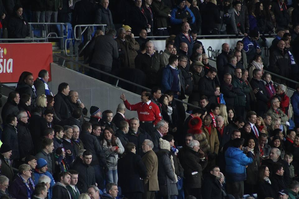 Vincent Tan vs Cardiff. Photo by Chris Harris