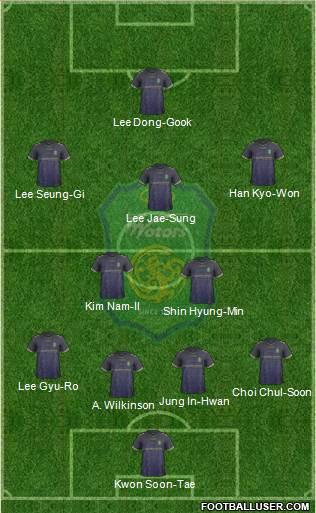 jeonbuk 4-3-3 formation