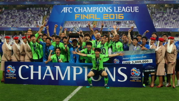 Jeonbuk celebrate their 2016 ACL title (source)
