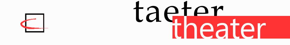 TaeterTheater Heidelberg Logo