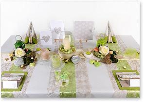Tischdekoration Tischdeko zur Hochzeit Mustertische