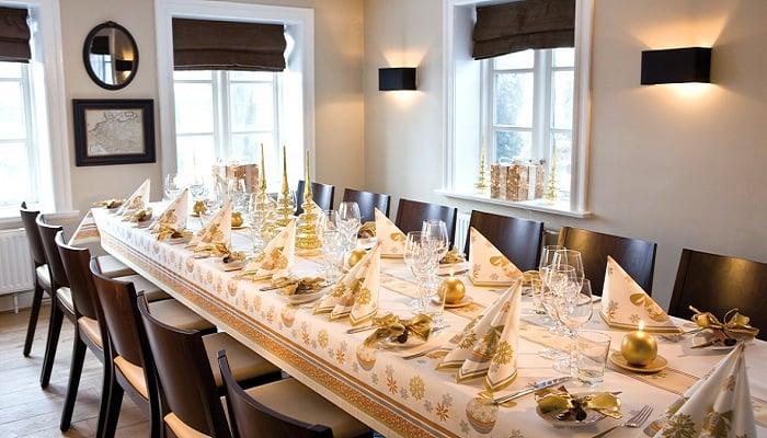 Servietten Mustertische Weihnachten Charm Champagner von