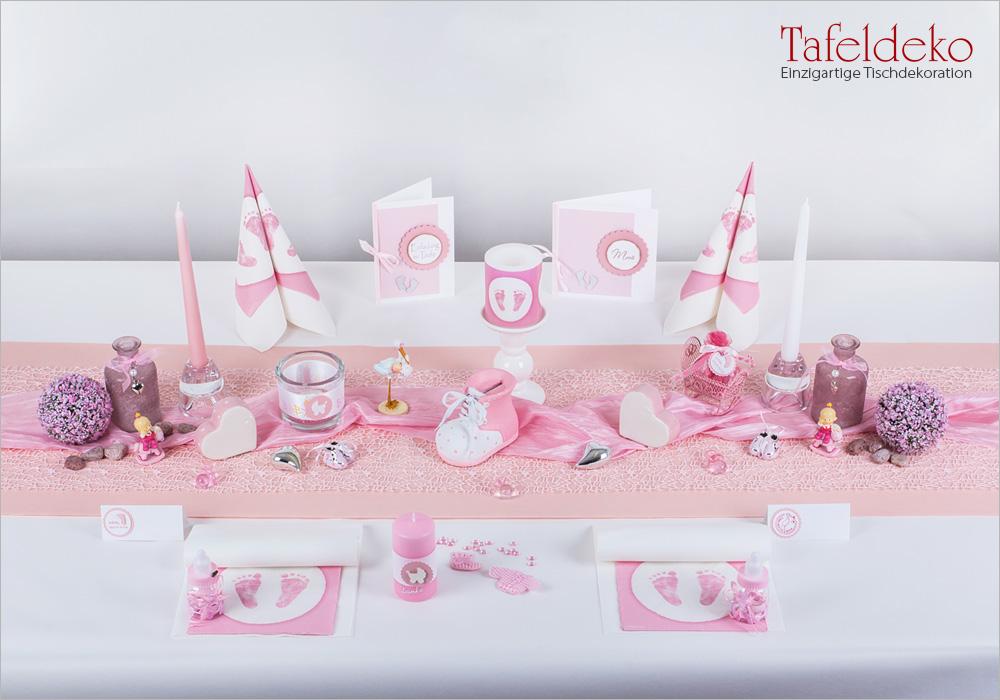 Tischdeko Taufe Rosa tischdeko taufe rosa bicolor ringe