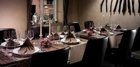 Tischdekoration im Restaurant  Tafeldeko
