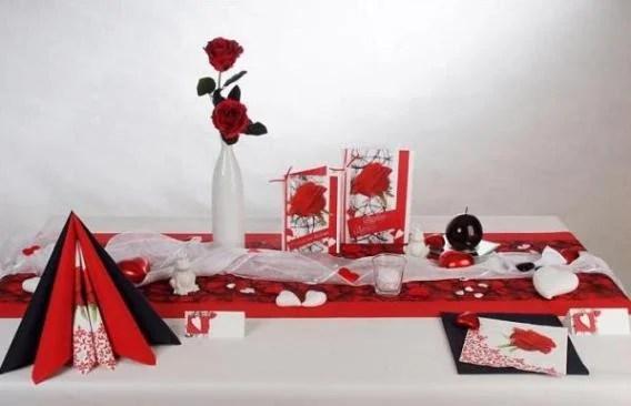 Tolle Tischdeko fr die Hochzeit in rot und wei  Tafeldeko