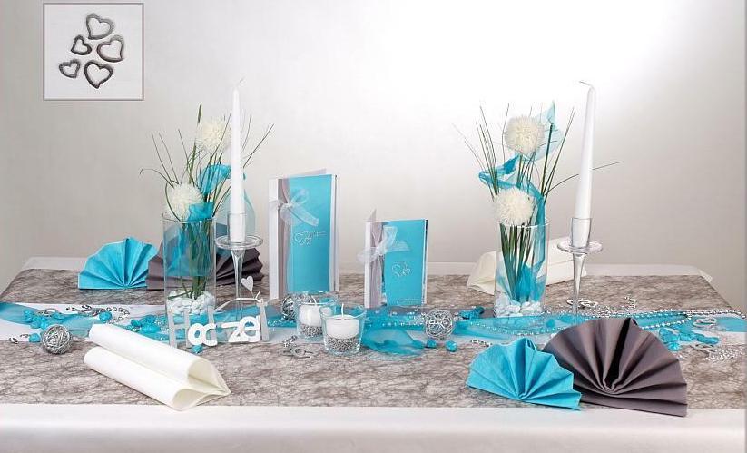 Eine blaue Tischdeko zur Hochzeit  elegant und edel