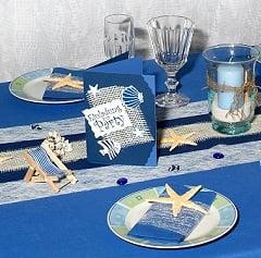 Tischdekoration Sommer Sonne Strand und Meer  Tafeldeko