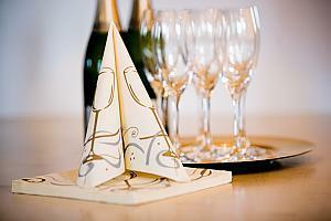 Firmenjubilum mit besonderer Tischdekoration  Tafeldeko