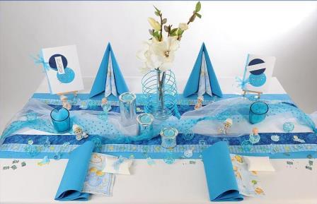 Ein besonderer Anlass der eine besondere Tischdeko erfordert die Taufe  Tafeldeko