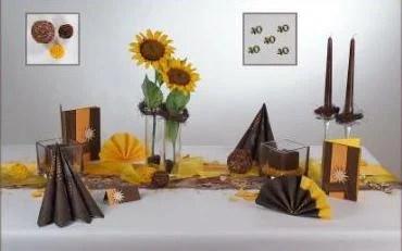 Sonnenblumen fr die sommerliche Tischdeko  Tafeldeko