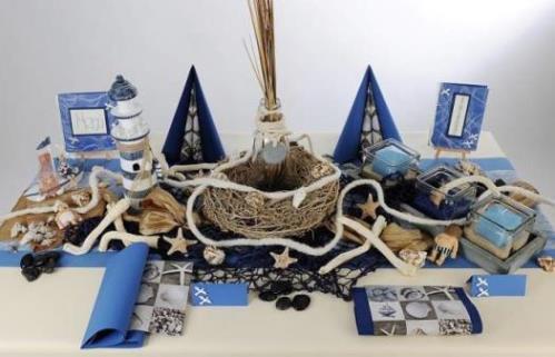 Tischdekoration im maritimen Stil zum 60 Geburtstag