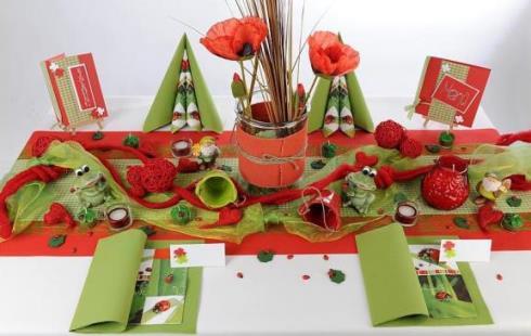 Tischdekoration fr die Geburtstagsfeier im Grnen  Tafeldeko