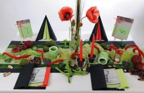 Eine stilvolle Deko fr den 60 Geburtstag auf den Tisch