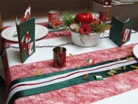 Einladung zur PastaParty mit passender Tischdeko  Tafeldeko
