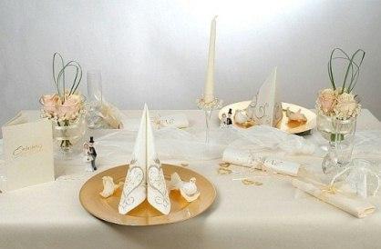 Tischdeko zur Hochzeit  edel und luxuris  Tafeldeko