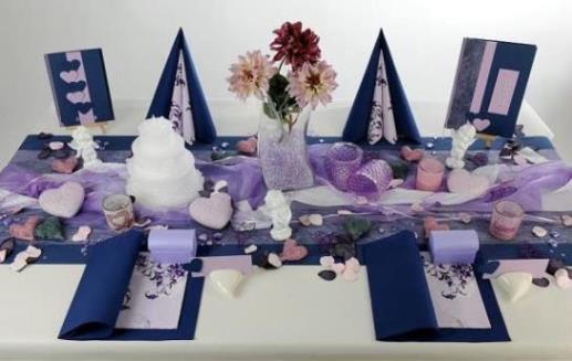 Eine Tischdekoration in blau zur Hochzeit  wunderschn  Tafeldeko