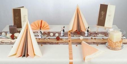 Rustikale Tischdekoration fr die Hochzeit  Tafeldeko