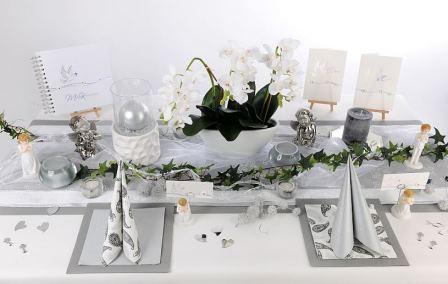 Glanzvolle Tischdeko fr die Kommunion oder Konfirmation  Tafeldeko