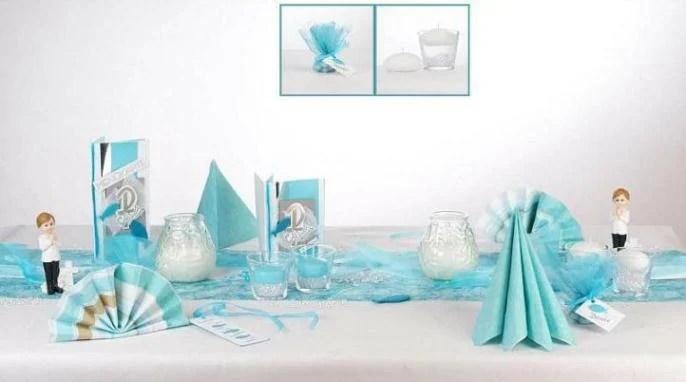 Kommunion Tischdeko  ein Traum in Trkis  Tafeldeko
