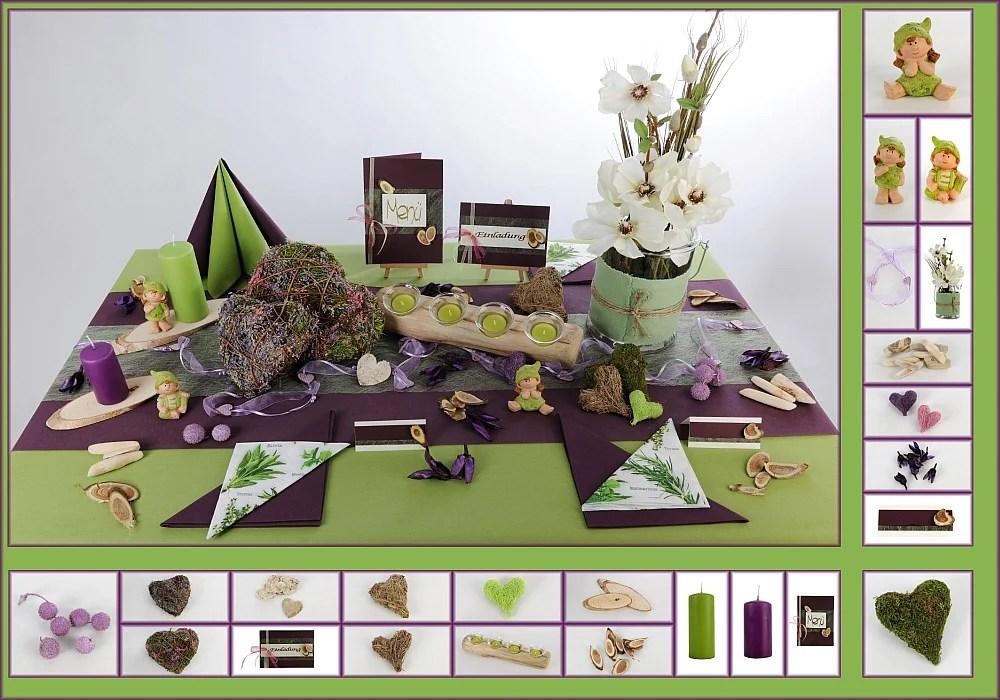 Tischdeko mit Naturmaterialien  Tafeldeko