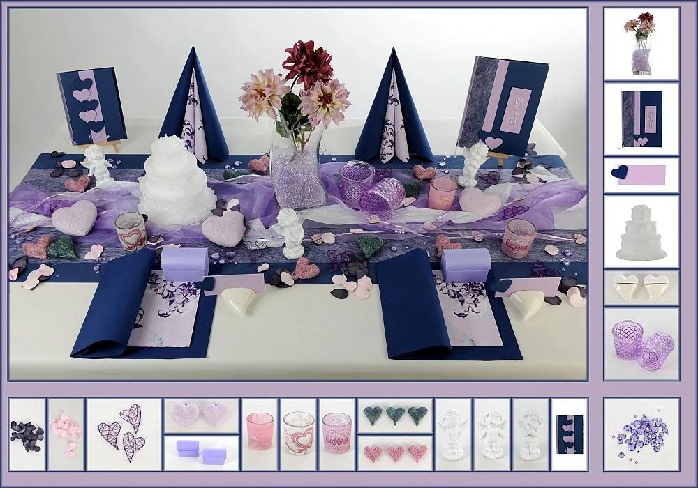 Tischdeko Hochzeit in Dunkelblau  Tafeldeko