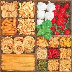 Italienische Tischdeko  Pasta und Co gren  Tafeldeko