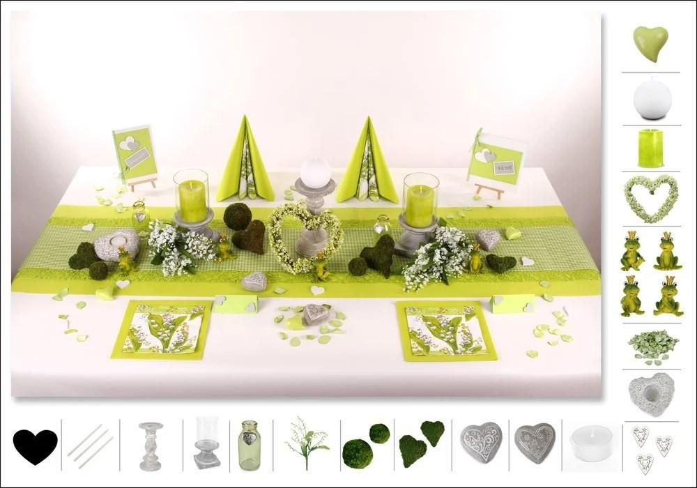 Hochzeitsdeko grn  bezaubernd schn  Tafeldeko
