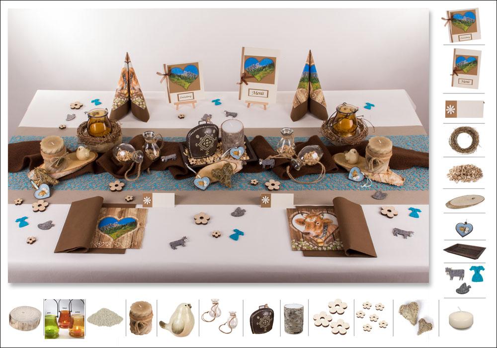 Tischdeko Geburtstag  lndlich rustikal  Tafeldeko
