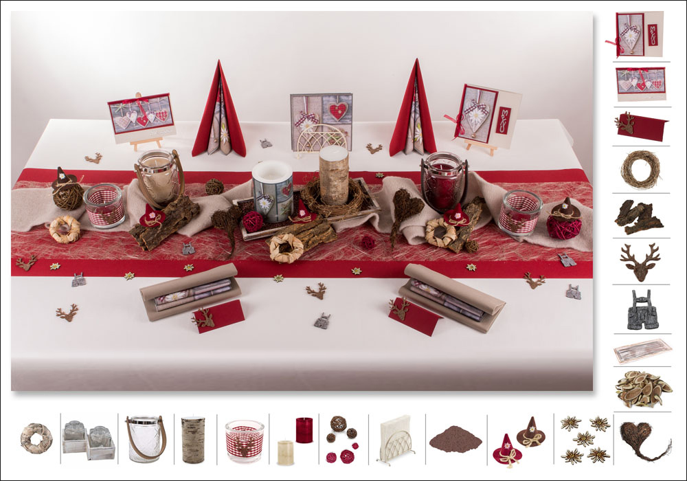 Tischdeko In Rot tischdeko rot creme mustertisch trendmarkt24 tischdeko in rot weddix