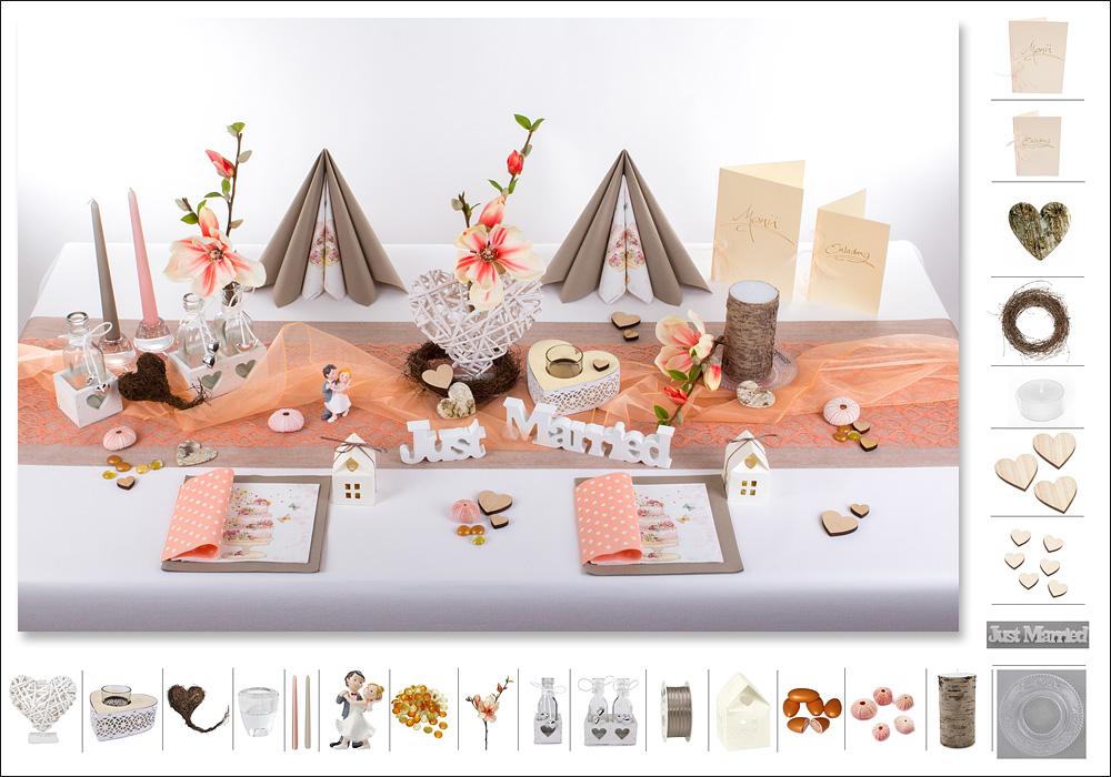 Tischdeko Hochzeit mit schnen Akzenten  Tafeldeko