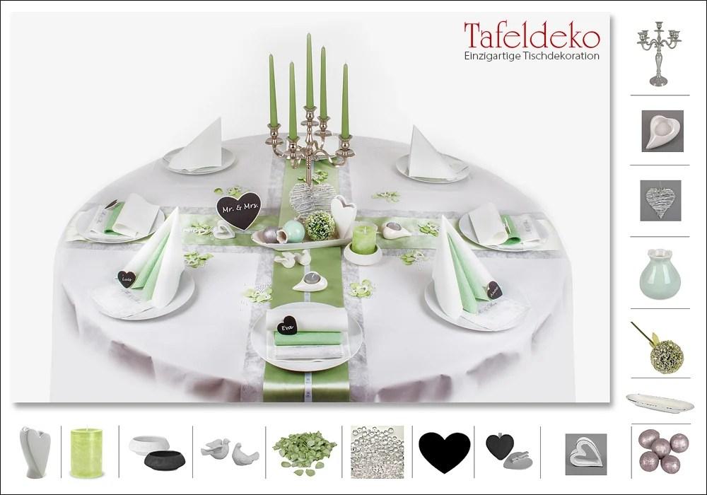 Hochzeitsdeko Tisch in zarten dezenten Farben  Tafeldeko