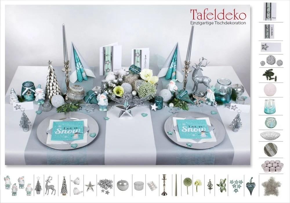 Tischdeko Blau Silber