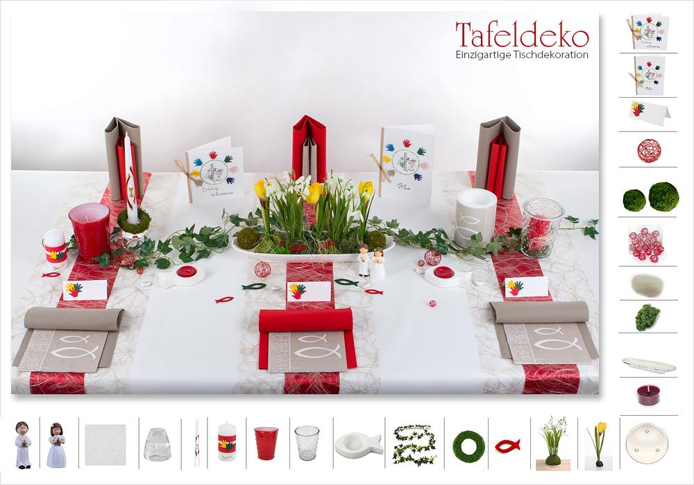 Tips und Ideen zur Kommunion Tischdeko  Tafeldekode