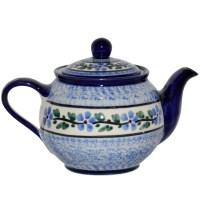 Teekanne Mit Stvchen. teekanne wei mit blauen blumen und ...