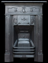 Edwardian cast iron bedroom fireplace