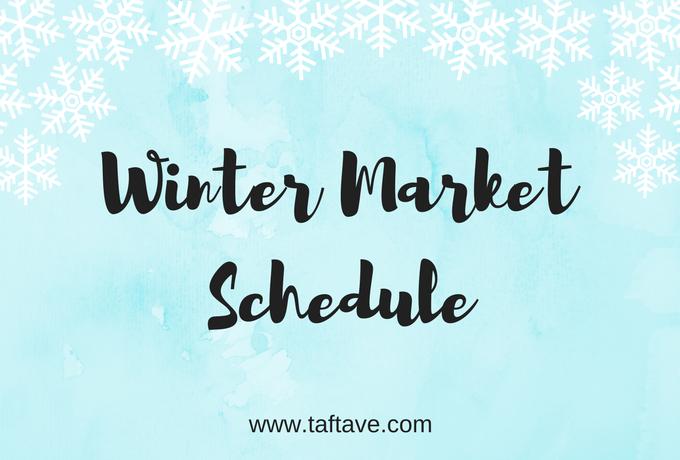 Winter Market Schedule 2017