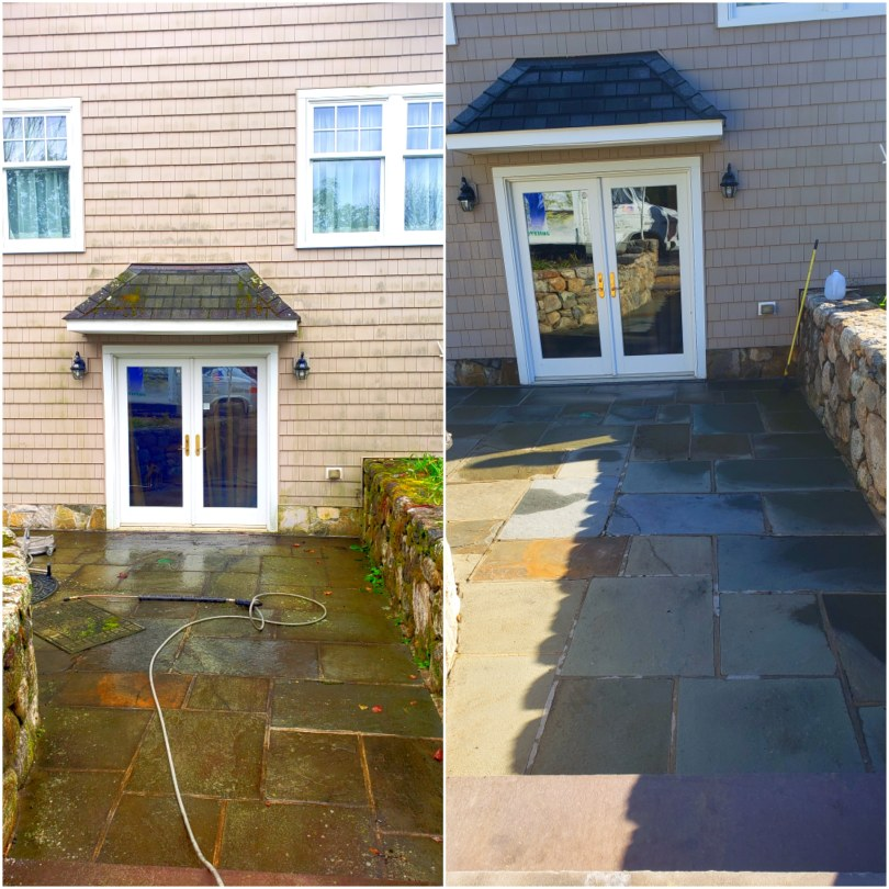Patio power washing of Fairfield connecticut