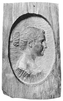 Carved Portrait of Josephine Bracken